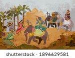 gods of india. ramayana.... | Shutterstock .eps vector #1896629581