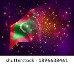 maldives  vector 3d flag on...   Shutterstock .eps vector #1896638461