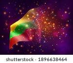 lithuania  vector 3d flag on...   Shutterstock .eps vector #1896638464