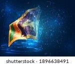 sri lanka  vector 3d flag on...   Shutterstock .eps vector #1896638491