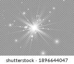 white glowing light explodes on ... | Shutterstock .eps vector #1896644047