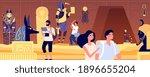 ancient tomb. underground... | Shutterstock .eps vector #1896655204