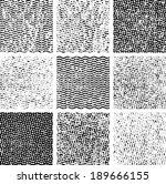 grunge set textures. vector... | Shutterstock .eps vector #189666155