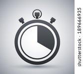 vector stopwatch icon   Shutterstock .eps vector #189666935