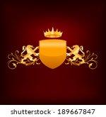 ornate floral design. raster... | Shutterstock . vector #189667847