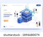 vector landing page of... | Shutterstock .eps vector #1896680074