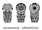 tattoo tribal abstract sleeve... | Shutterstock .eps vector #1896695101