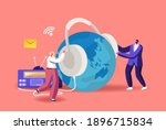 tiny male and female characters ...   Shutterstock .eps vector #1896715834