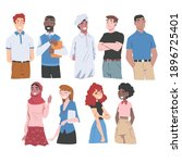 diverse multiracial and...   Shutterstock .eps vector #1896725401