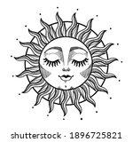 bohemian illustration  stylized ... | Shutterstock .eps vector #1896725821