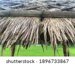 Close Up View Of Thatched Roof