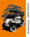 t shirt design golf cart... | Shutterstock .eps vector #1896735694