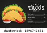 taco menu vector template with... | Shutterstock .eps vector #1896741631