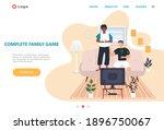 complete family game landing... | Shutterstock .eps vector #1896750067
