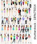 fashion people vector | Shutterstock .eps vector #189675014