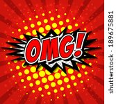 omg  comic speech bubble ...   Shutterstock .eps vector #189675881