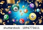 lottery balls 3d vector bingo ... | Shutterstock .eps vector #1896773611