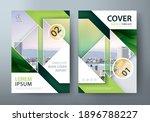 flyer design  leaflet cover... | Shutterstock .eps vector #1896788227