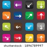 arrows vector icons for user...
