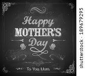 illustration of happy mothers...   Shutterstock .eps vector #189679295