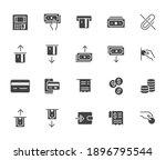 atm machine flat icon set.... | Shutterstock .eps vector #1896795544