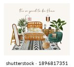 watercolor hand drawn... | Shutterstock .eps vector #1896817351