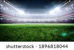 Night Stadium With Illumination ...