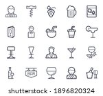 bar line icon set. collection... | Shutterstock .eps vector #1896820324