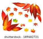 autumn card of maple leaves | Shutterstock . vector #189682721