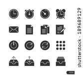 office   business icons on...   Shutterstock .eps vector #189689129