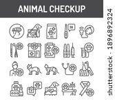 animal checkup black line icons ... | Shutterstock .eps vector #1896892324