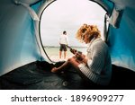 Camping Tent Vacation And Adult ...