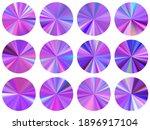 violet holographic radial...