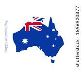 happy australia day banner. map ...   Shutterstock .eps vector #1896920377