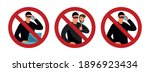 scammers and prohibition sign.... | Shutterstock .eps vector #1896923434
