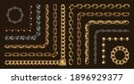 chains pattern brushes colorful ... | Shutterstock .eps vector #1896929377