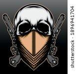 cool gangster skull... | Shutterstock .eps vector #1896941704