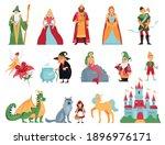fairy tale characters cartoon... | Shutterstock .eps vector #1896976171