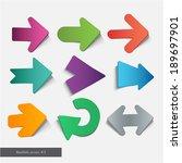 realistic arrow | Shutterstock .eps vector #189697901