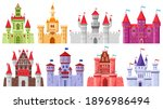 fairytale medieval towers.... | Shutterstock .eps vector #1896986494
