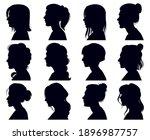 female head silhouette. women... | Shutterstock .eps vector #1896987757