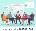 managers  office workers ...   Shutterstock .eps vector #1897021501