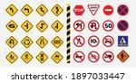 traffic signs. vector traffic...   Shutterstock .eps vector #1897033447