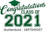 green congratulations 2021...   Shutterstock .eps vector #1897045357
