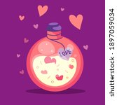 love potion in a bottle. | Shutterstock .eps vector #1897059034