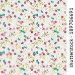 seamless tiny cute flower... | Shutterstock .eps vector #189706691