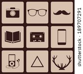 vector design flat icons hipster