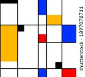 seamless simple pattern. black... | Shutterstock .eps vector #1897078711