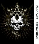 vector tattoo style... | Shutterstock .eps vector #18970942