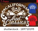 t shirt graphics | Shutterstock .eps vector #189710195